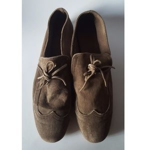 Fabio Rusconi brown textured leather shoes